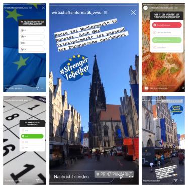 Eindrücke aus der Instagram-Kampagne zur Europawoche 2020